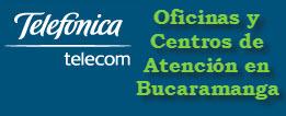Oficinas y centros de servicio de Telefonica Telecom, ciudad: Bucaramanga Santander – Colombia