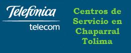 Oficinas y centros de servicio de Telefonica Telecom, ciudad: Chaparral Tolima – Colombia