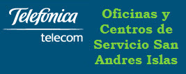 Oficinas y centros de servicio de Telefonica Telecom, ciudad: San Andres Islas – Colombia