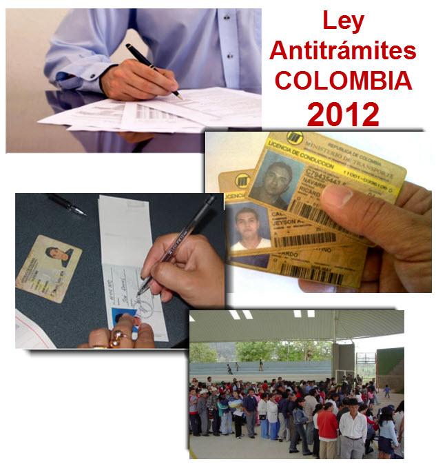 Ley Antitrámites Colombia