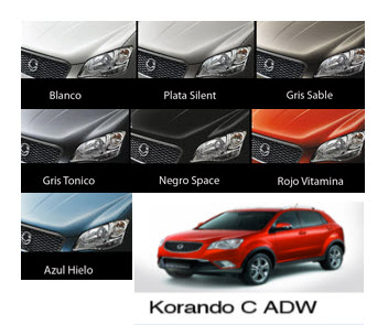 Ssangyong Korando C ADW, colores