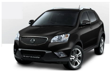 Ssangyong Korando C, color negro space