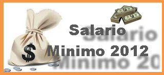 Salario Minino Legal 2012, en Colombia