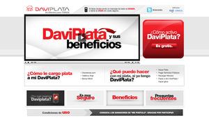 Vista del sitio oficial de Davivienda y su portafolio de servicios de Daviplata