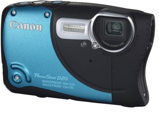 Canon PowerShot D20, Vista Frontal