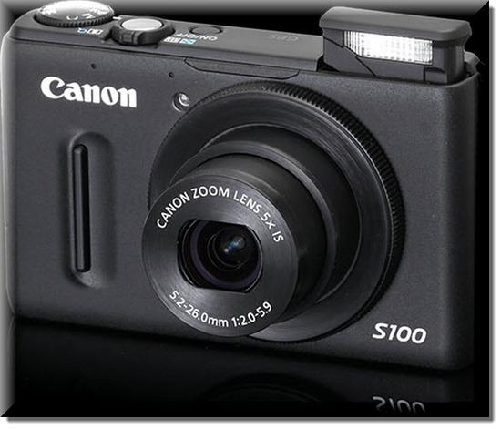 Canon PowerShot S100, Vista Frontal