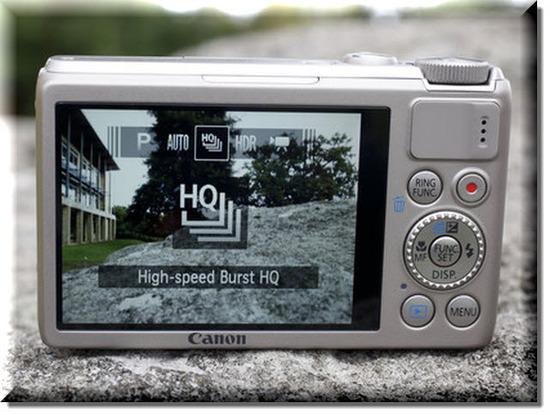 Canon PowerShot S100, Vista Trasera