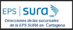 Direcciones de las Sucursales de la EPS SURA en Cartagena
