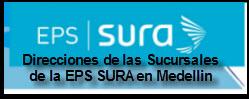 Direcciones de las sucursales de la EPS SURA en Medellin