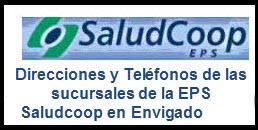 Direcciones y Teléfonos de las sucursales de la EPS Saludcoop en Envigado