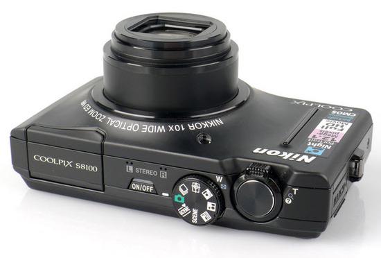 Nikon Coolpix S8100, Vista superior