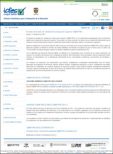 Pagina oficial www.icfes.gov.co
