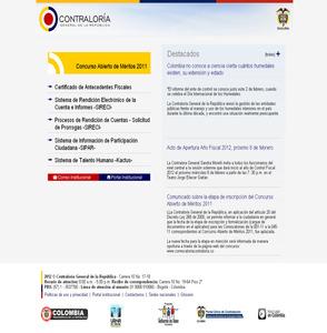 Pagina oficial www.contraloriagen.gov.co