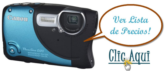 listado de ofertas de Canon PowerShot D20