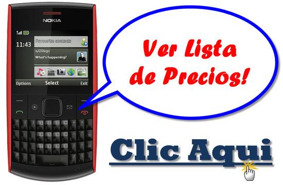 listado de ofertas de Nokia X2-01