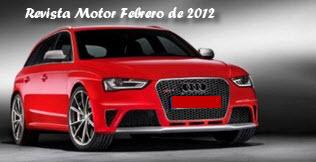 Precios de la revista motor Febrero de 2012