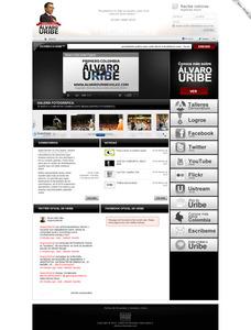 Vista pagina oficial ex Presidente Álvaro Uribe Vélez