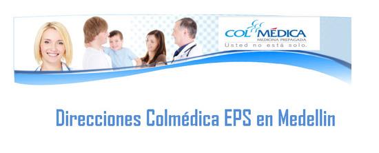 Dirección Colmédica EPS en Medellin