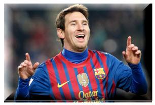 Histórico, Lionel Messi le marco cinco goles  al Leverkunse