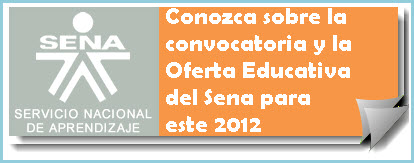 Sena Oferta Educativa para Colombia 2012