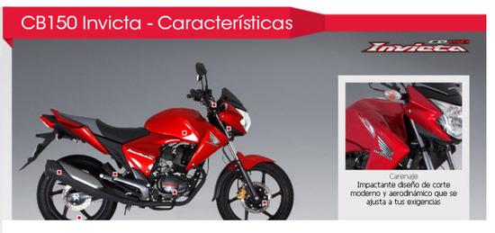 Honda CB 150 Invicta 2012