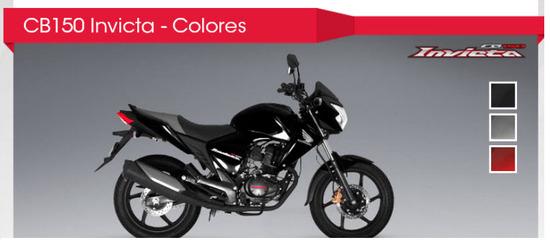 Honda CB 150 Invicta 2012 Negro star