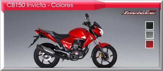 Honda CB150 Invicta 2012, rojo siena
