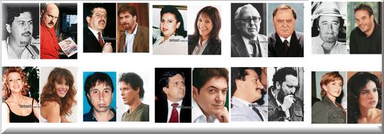 Personajes serie Caracol Pablo Escobar el Patrón del Mal