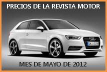 Precios de la revista motor Mayo de 2012