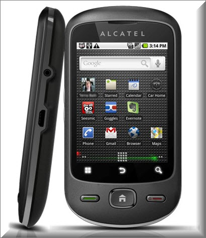 Alcatel One Touch 906, vista parte exterior
