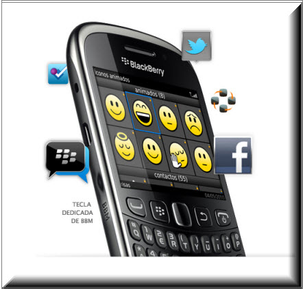 Blackberry Curve 9320, Aplicaciones integradas a BBM