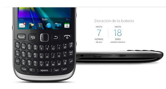 Blackberry Curve 9320, duración de la batería
