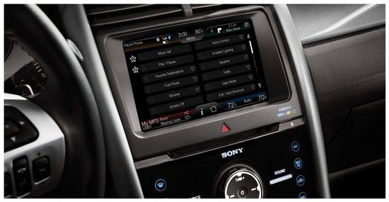 Ford Edge 2012, consola