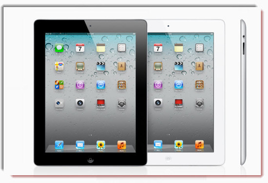 Ipad 2 , colores negro blanco