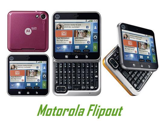 Motorola Flipout, pantalla táctil