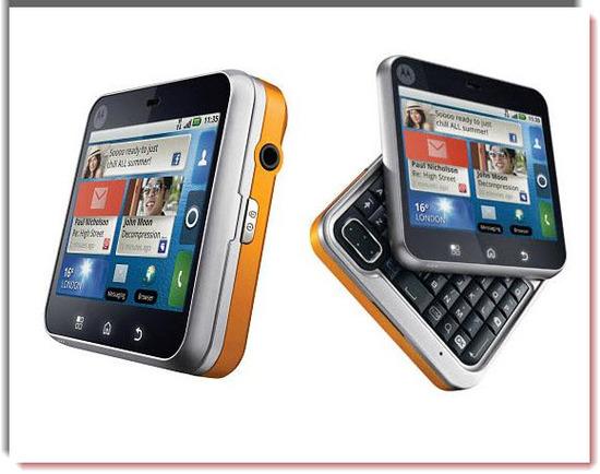Motorola Flipout, vista parte exterior