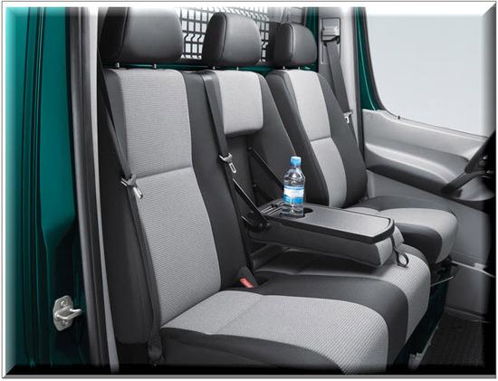 Nuevo Volkswagen Crafter Plataforma, asientos traseros