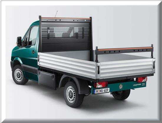 Nuevo Volkswagen Crafter Plataforma, sistema de carga