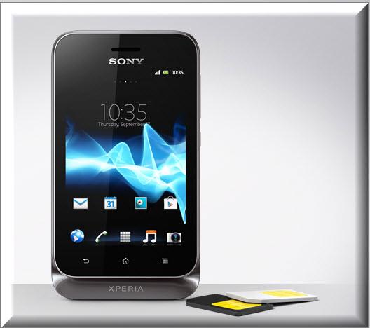 Sony Xperia Tipo Dual, tarjetas sim