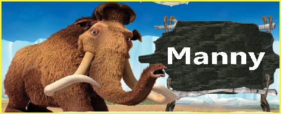 personaje película la era del hielo 4 Manny