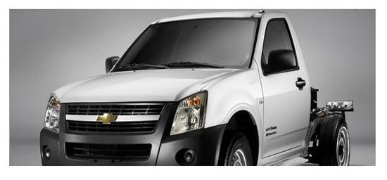 Chevrolet Luv Dmax Chasis, vista parte exterior