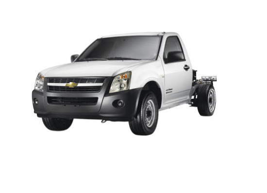 Chevrolet Luv Dmax Chasis, vista parte frontal