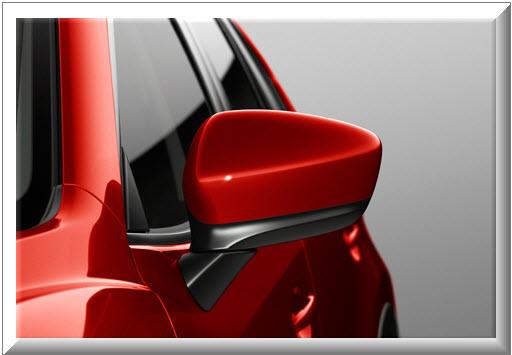 Mazda CX-5 2013, espejo retrovisor