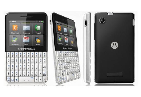 Motorola Motokey XT EX 118, pantalla táctil