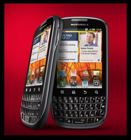 Motorola PRO, teclado QWERTY