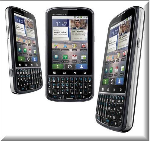 Motorola PRO, Vista parte exterior
