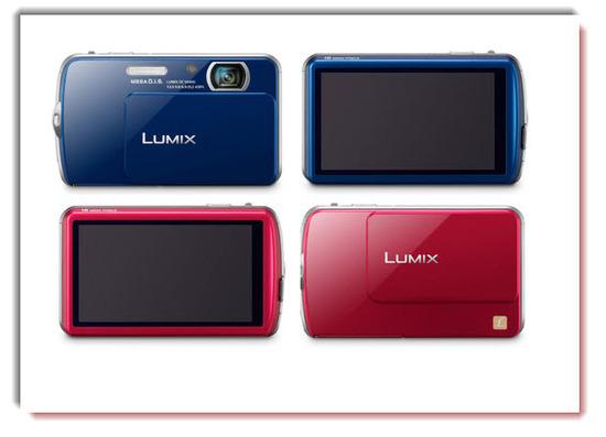 Panasonic Lumix DMC-FP7, color azul y rojo