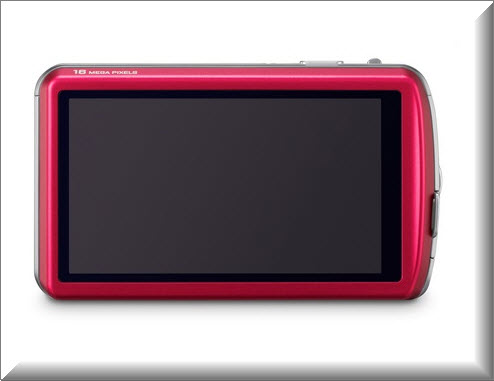 Panasonic Lumix DMC-FP7, vista parte trasera