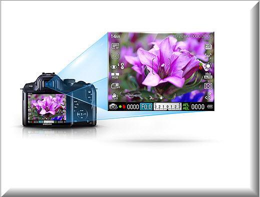 Samsung NX11 ,vista exterior