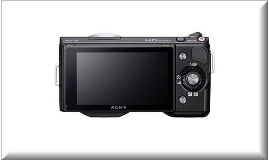 Sony Nex 5NK, vista parte de atras